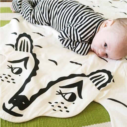 Soft Cotton Baby Kids Game Mat Rug Children Cartoon Bear Blankets Animal Carpet Warm Play Mats Carpet Kids Room Decoration Gift