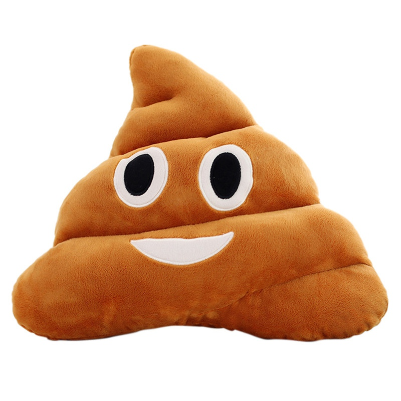 5 Types Mini Emoji Pillow Cushion Poop Shape Pillow Doll Toy Throw Pillow Amusing emotion Poo Cushion almofadas H1