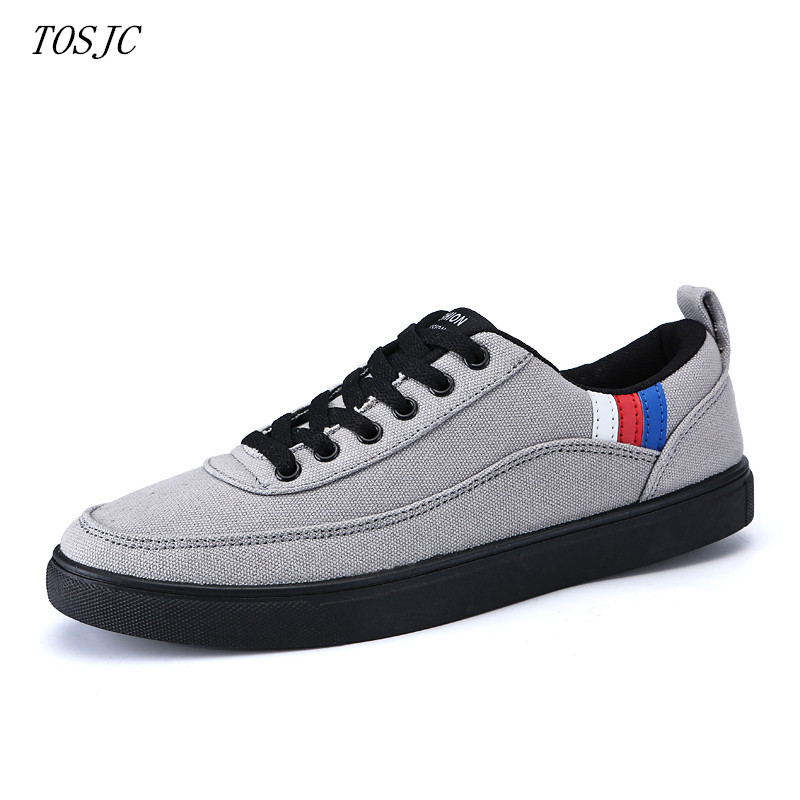 Schuhe Herzhaft Mann Vulkanisierte Leinwand Schuhe Außen Schwarz Farbe Schuhe Flache Schuhe Tenis Masculino Adulto Zapatos Hombre