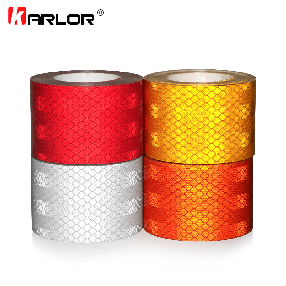 High quality 5x200cm Car Reflective Tape Stickers Auto Motorcycle Safety Reflective Material Film Warning Tape Car Styling