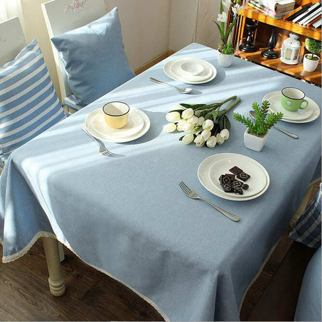 Retro Navy Wind Cotton Linen Striped Table Cloth Oversize 140*220 Picnic Party  Tablecloth Dustproof