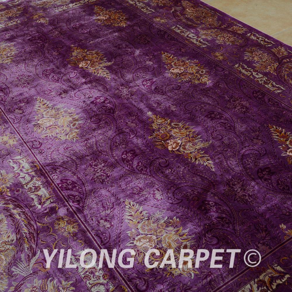 Yilong 6.56'x9.84 'Галерия килимче лилав - Домашен текстил - Снимка 4