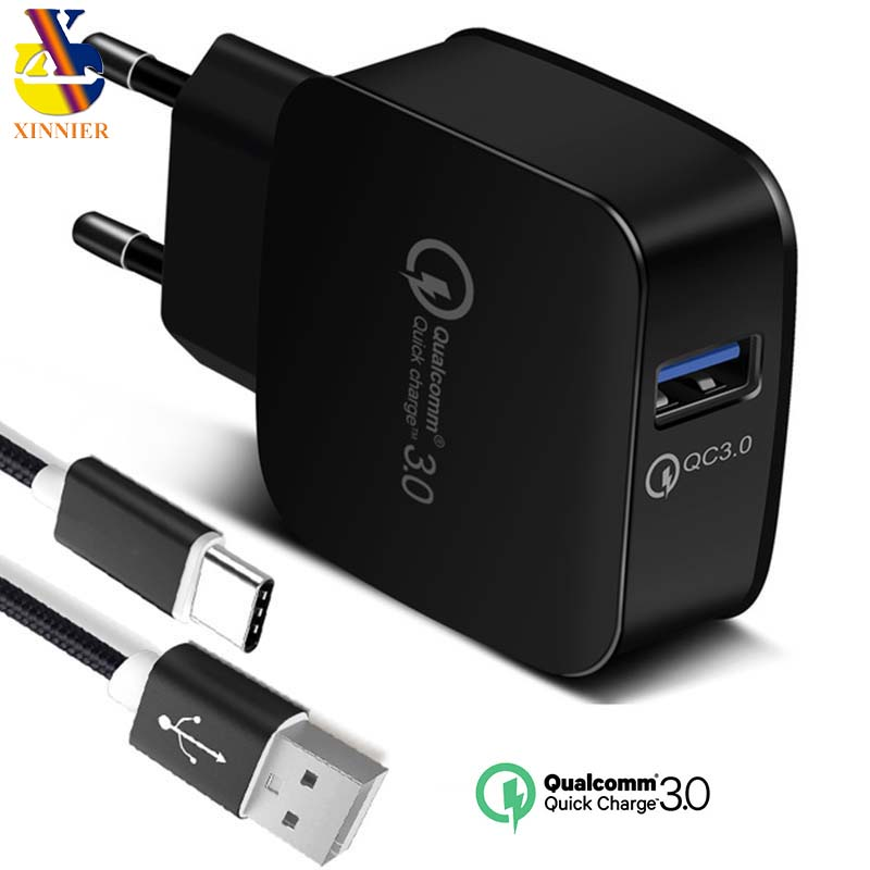 QC3.0 charger Quick charger 3.0 For huawei p8 p9 p10 mate 10 honor 9 fast charger 18W Fast USB Charger for xiaomi 5 MI6 4A note4 mobile phone
