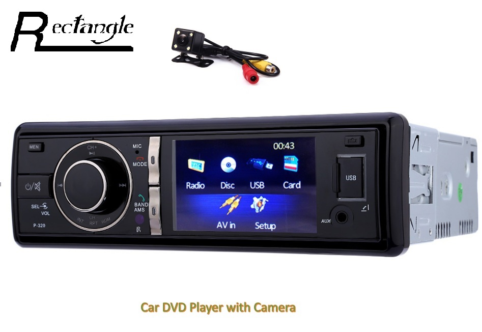 ФОТО Single Din 3 inch 12V Car Radio Audio Stereo USB / SD / AUX DVD Player FM Transmitter with IR Wireless Remote Control MTK System