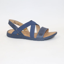 18New head layer cowhide and tighten belt woven women's flat heel color fashion comfortable sandals Women's sandals