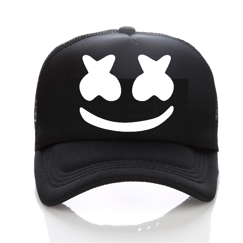 a2c9f35ceee New Arrived marshmello face men baseball cap boy casual homme cap Black  White Hat Snapback Hat Women Cap-in Men s Baseball Caps from Apparel  Accessories on ...