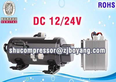 12volt r134a inverter air conditioner compressor for marine military truck mining machine ship cab