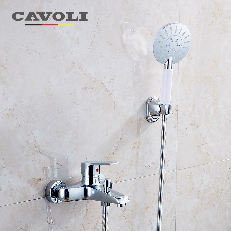 Cavoli Brass body shower faucets bathroom thermostatic Wall Mounted brand Chrome rain bath shower set #LT-320 china sanitary ware chrome wall mount thermostatic water tap water saver thermostatic shower faucet