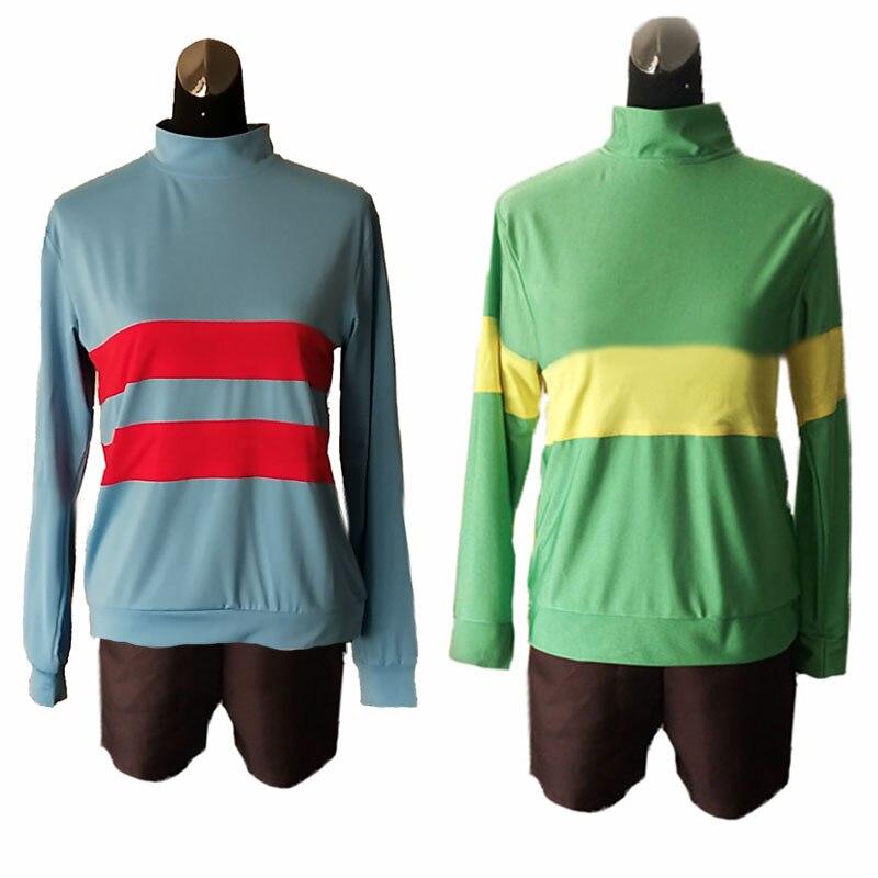 Undertale Chara//Frisk Sweats Cosplay Costume Shirts Shorts Pants Sweatshirt