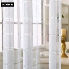 Lovalin Curtain White Вышитый тюль-занавес для гостиной Окно-экран Sheer Doors Занавес спальни Французские шторы