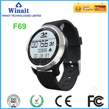 IP68 waterproof F69 smart watch with heart rate bracelet for both android and ios phone watch free shipping