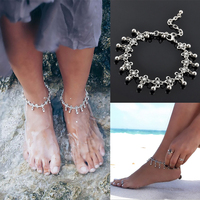 LNRRABC Summer Women Lady Girl Fashion New 2016 Charming Trendy Flower Beads Tassel Tibetan Beach Anklet Bracelet Gift