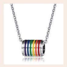 Eg /_ Pride Promise Arc En Ciel Pendentif Collier à Chaîne Gay Lesbienne Tendance