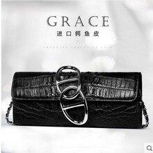 yuanyu New Alligator leather women handbag Thai crocodile leather single shoulder bag genuine Large long wallet woman bag