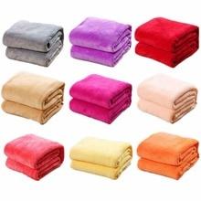 Cammitever Willekeurige Kleur 100*70Cm Effen Coral Flanellen Deken Laken Soft Touch Sofa Reizen Thuis Gooien