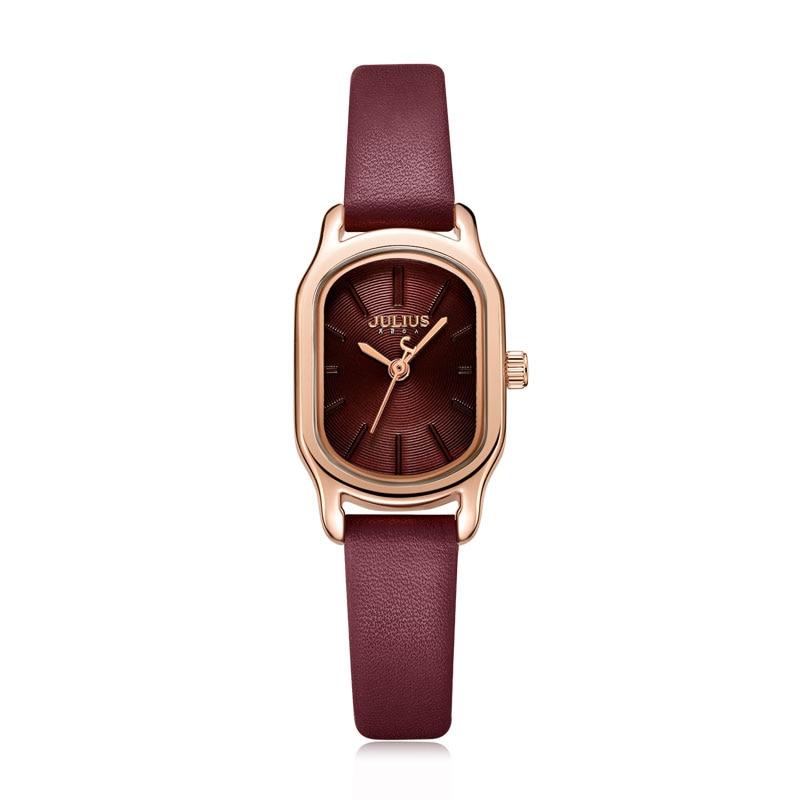 Julius montre ovale élégante robe montre pour les femmes montre de mode de luxe marque dame cristal montre Reloj Mujer Baratos JA 1112-in Montres femme from Montres    1