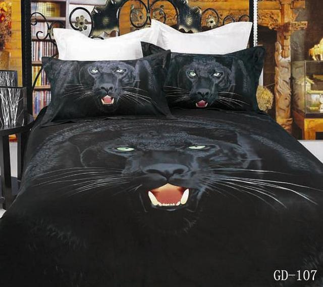 7pcs 3D Black Panther Bedding Sets California King Quilt Duvet Cover Fitted  Bed Designer Sheets Queen