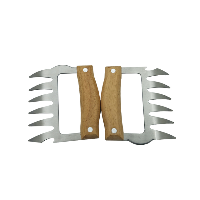 Meat shredder claws wooden handle