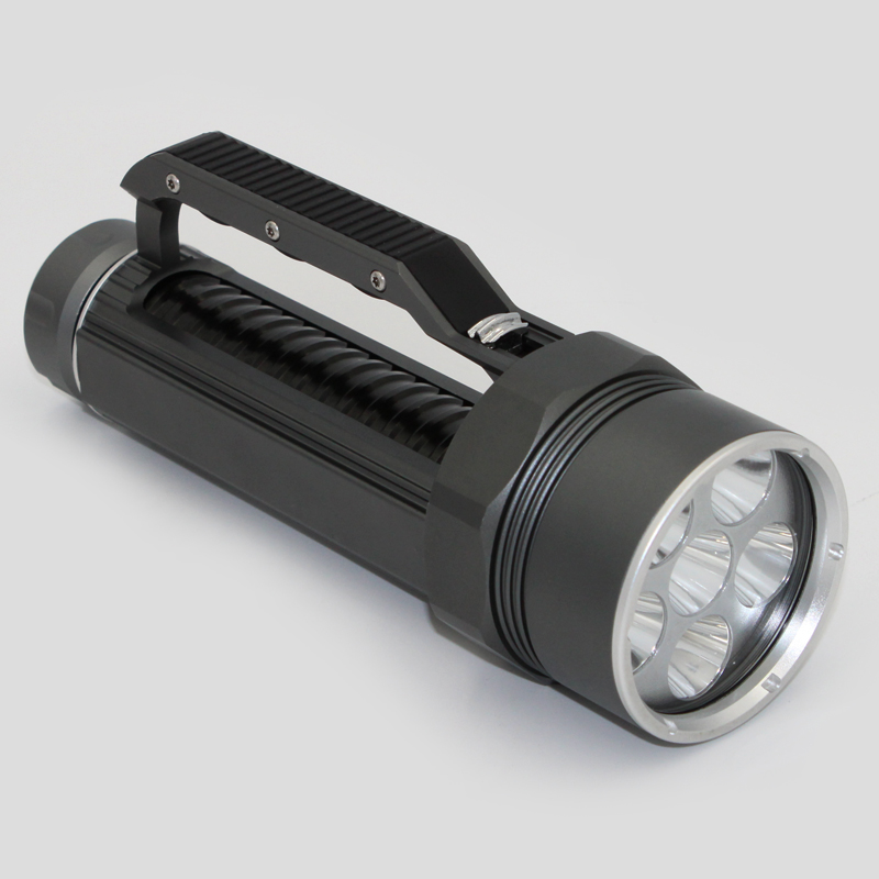 Diving Light 6 x Cree XM-L2 LED Scuba Diving Flashlight Light Waterproof Underwater 100M Torch Use 32650 Battery scuba 100m underwater diving flashlight 5000lm cree xm l2 led waterproof torch light flash lamp torch 18650 free gift box