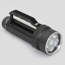 Plongée Lumière 6 x Cree XM-L2 LED Plongée sous-marine Lampe torche Étanche Sous-Marine 100 M Torche Utiliser 32650 Batterie