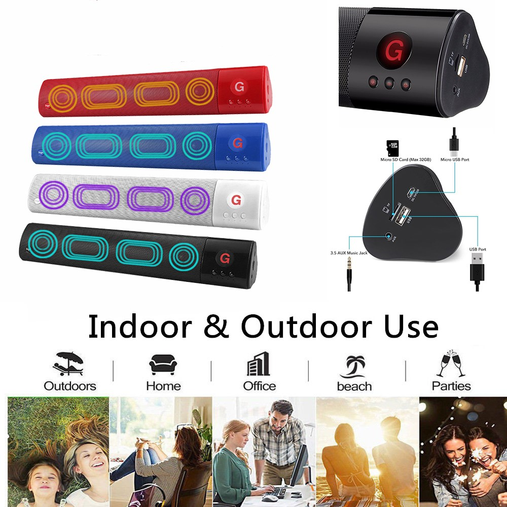 Portable Wireless bluetooth speaker TV soundbar 3D Stereo Surround Subwoofer Audio Sound Bar Home Theater Aux HIFI Radio Party fashion tv sound bar surround bluetooth wireless speaker stereo home theater subwoofer new arrival
