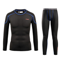 Men Quick Dry Thermal Underwear Men Warm Long Johns Men Ski Jacket and Pants For Ski/Hiking/Snowboard/Cycling