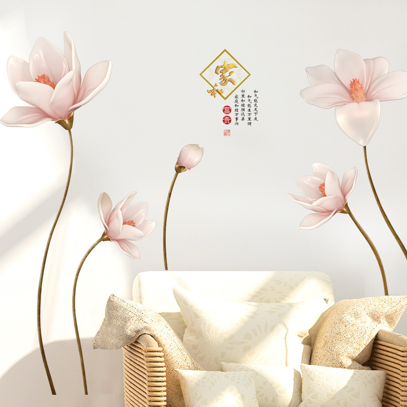 Moderne de Style Chinois Décoration Stickers Muraux TV Fond Murale Stickers Muraux Décor À La Maison Salon Chambre Stickers Muraux