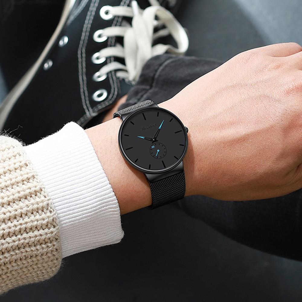 Mens Sports Watches Top Brand Luxury Ultra Thin Casual Waterproof Sport Watch Quartz Full Steel Men Watch Relogio Masculino