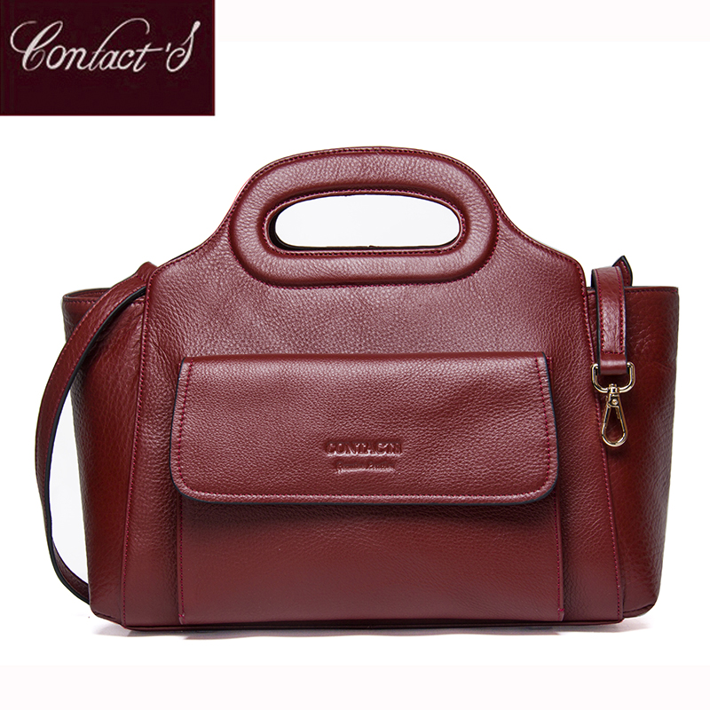 High Quality Leather Women Bag Genuine Leather Shoulder Bags Solid Big Women Handbag Large Capacity Famous Brand Design iceinnight genuine leather bags new design handbag women famous brand messenger bags high quality travel shoulder bag for female