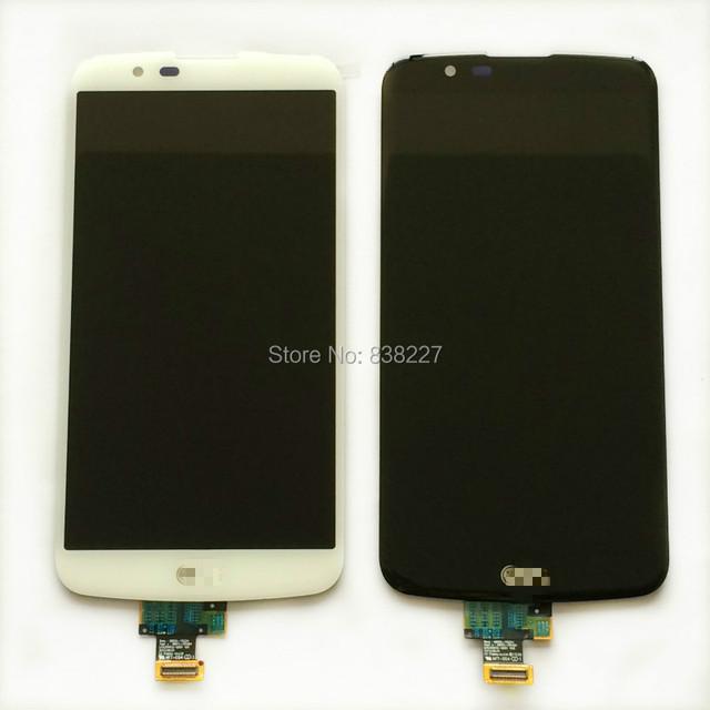 Para lg k10 lte k420n k430 k430ds lcd pantalla táctil de cristal digitalizador asamblea original en la acción
