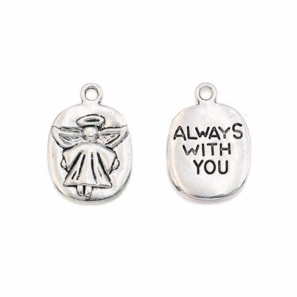 10 x Tibetan Silver Charms  Made For An Angel Pendant