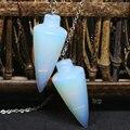 New arrival white opal opalite moonstone waterdrop pingentes pendulum chakra cura beads reiki jóia 18 * 40 mm B1841