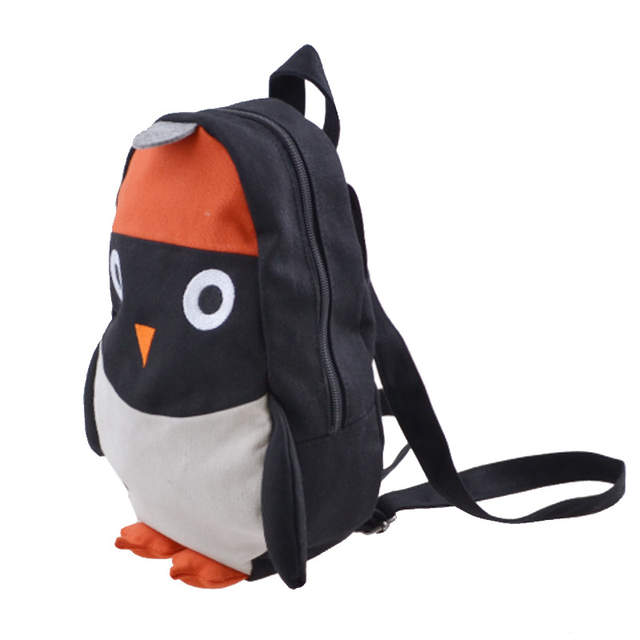 Online Shop Girls Boys Cute Penguin Backpack Can Match Same Mini Penguin  Crossbody Bag KIDS Canvas Animal Backpack For Kids Girl  2259ab85a6f30