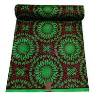 Бесплатная доставка (6 ярдов/шт) Высокое качество Африки в реальном хлопок ткань воска зеленый oni ткань воска для делаем одежда WXD707-9
