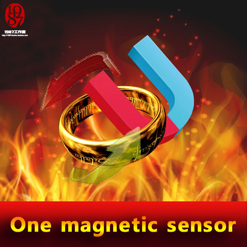 live escape Real life escape room game prop magic ring to run away from the room; magic ring to open the door, magnetic sensor 6924 magic ring phantom impregnable fortress magic set white blue