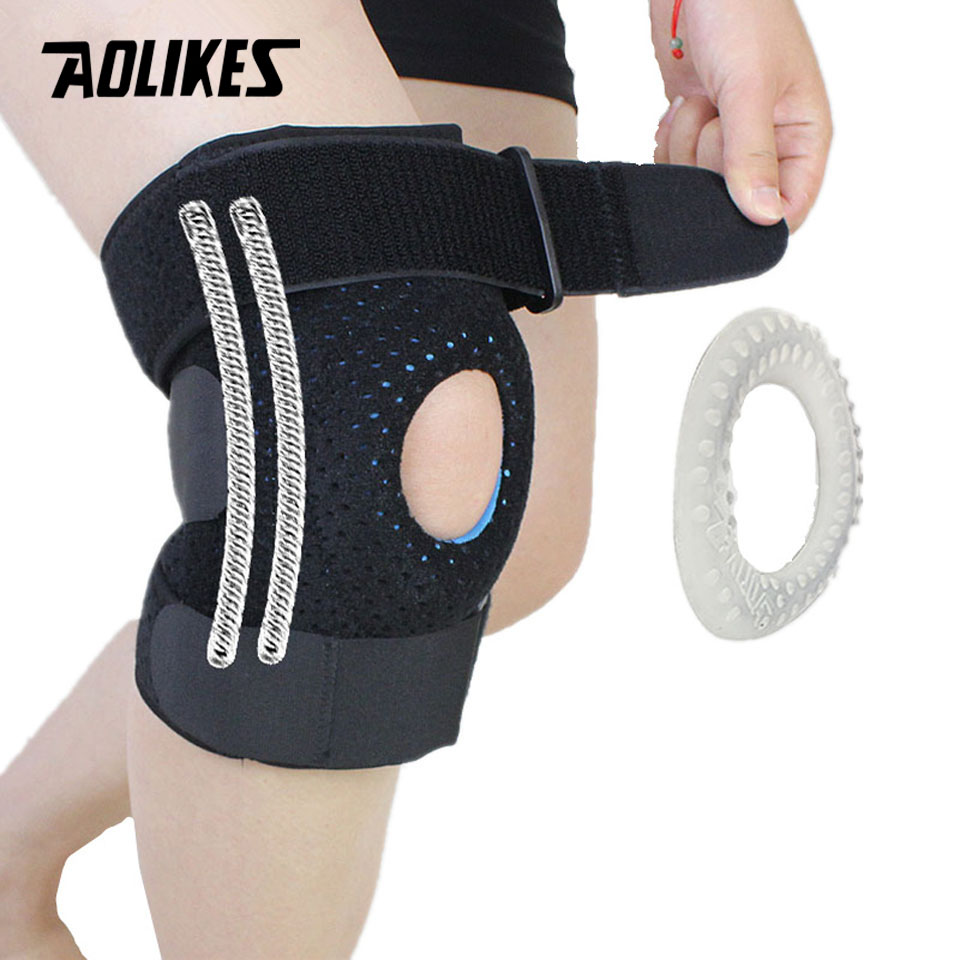 AOLIKES 1PCS Meniscus Knee Pads Silica Gel Kneepads Hiking Running Basketball Knee Support Breathable Sports Knee Protector