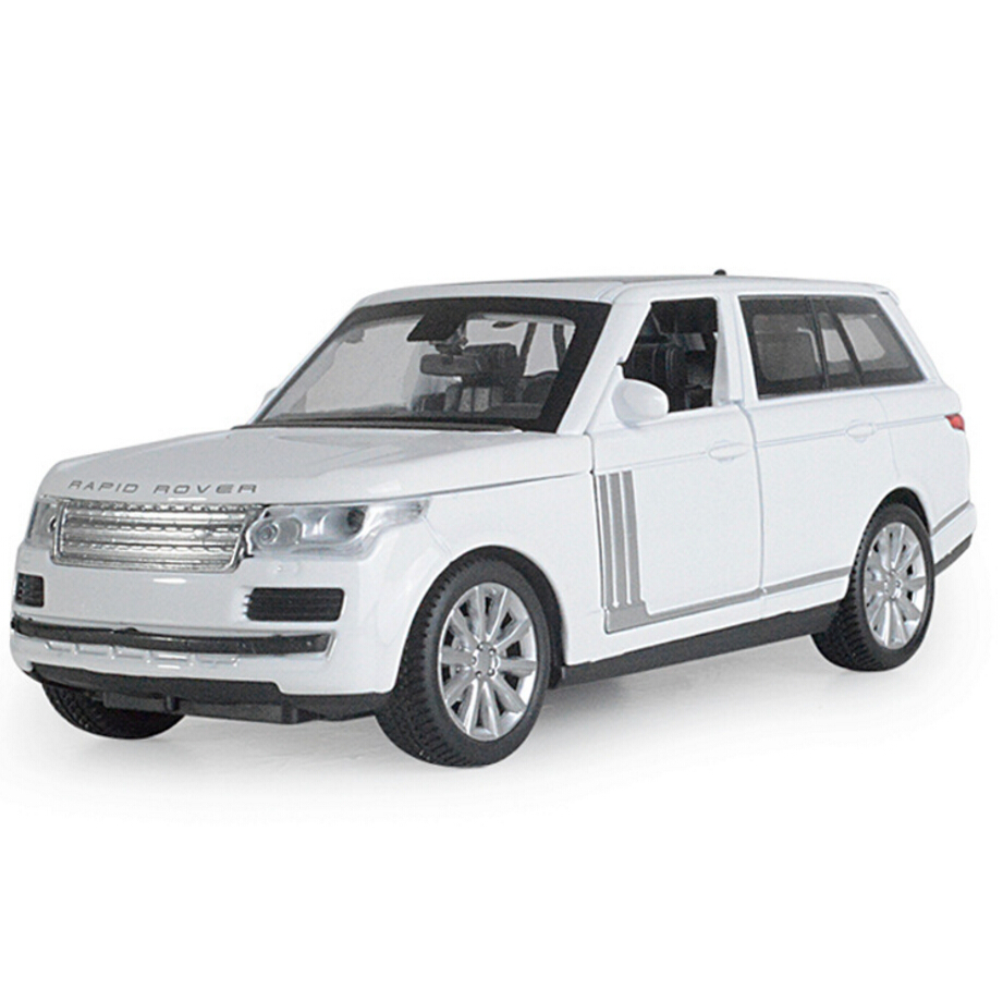 Hot 1:32 scale wheels diecast cars suv sports land range rover metal model with light an ...