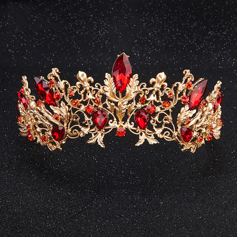 HIMSTORY Luxury Princess Queen Crown European Baroque Large Hair - Նորաձև զարդեր - Լուսանկար 3