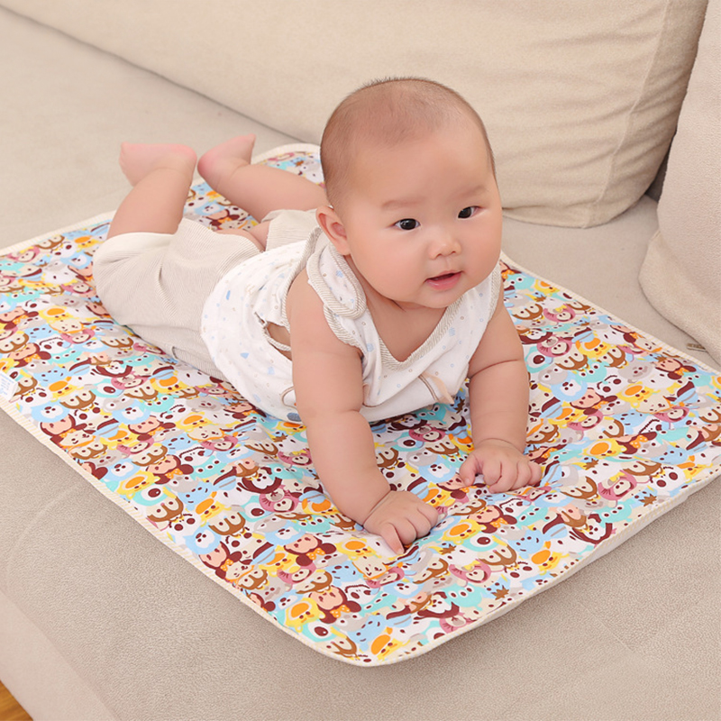 все цены на 50*70cm Baby Reusable Mattress Waterproof Diapering Changing Pads Cotton Washable Newborn Mattress Baby Changing Mat