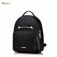 New NUCELLE Brand Design Cute Cat Ears Mini Genuine Leather Women Backpacks Shoulder Bag Gift For