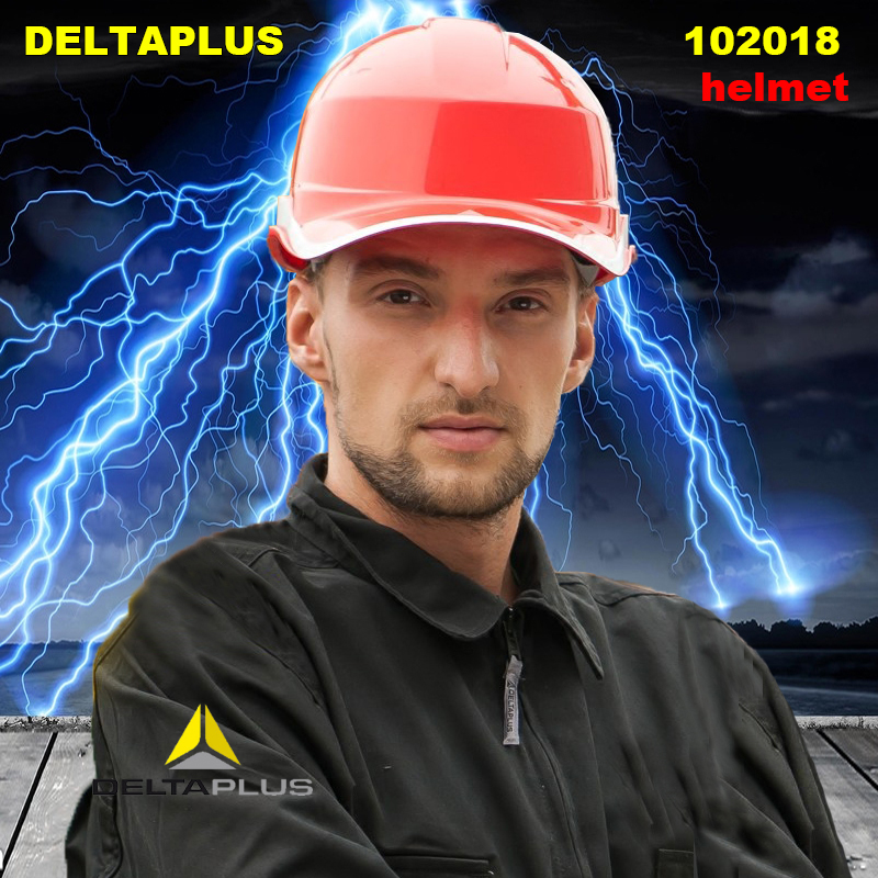 DELTA PLUS 102018 ABS safety helmet Electrical insulation casco de seguridad Breathable Reflective safety helmets high quality safety helmet abs y china national standard casco de seguridad anti smashing multifunction hard hat