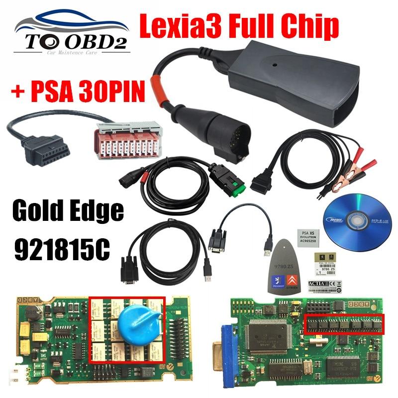 imágenes para Profesional Completo Lexia3 Chip + PSA 30Pin Para Los Coches Viejos Serie Referencia 921815C Lexia 3 V48 PP2000 V25 Excelente PCB envío Gratis