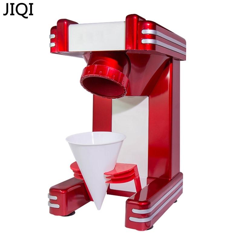 JIQI Household Electric Ice Crusher Shaver Snow Cone Ice Block Making Machine Ice Slush Sand Maker Ice Tea Shop 220V EU