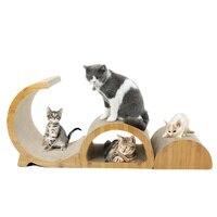 3in1 GD Shape Cat Scraching Board Fat Cat Bed Multifunction Double Fun Cardboard Paper Cat Scratching Pad Cat Climbing Pet Toy