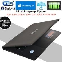 8GB RAM+30GB+750GB HDD Intel Pentium N3520 Quad Core 2.16GHz 14.1″Windows10 notebook PC Ultrabook Laptop USB3.0 Port on for SALE