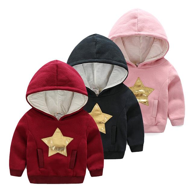 2016 Crianças Meninos Roupas Hoodies Camisolas Meninos Moda Crianças Meninos Hoodies Meninos Tops Traje Jaqueta de Inverno Quente