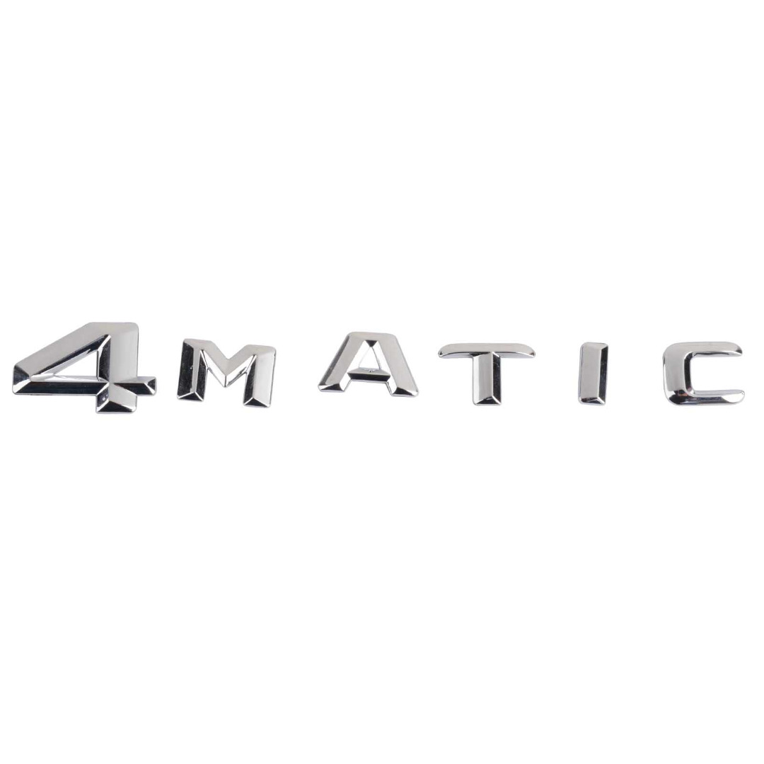 MAYITR Chrome ABS 4MATIC 4 MATIC Logo Emblem Car Rear Trunk Lid Letters Badge Sticker Decal for Mercedes Benz Car Styling chrome c180 letters for c 180 c class trunk emblem badge sticker