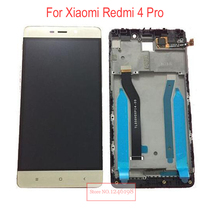 Черный бело-золотые полный ЖК-дисплей Дисплей Сенсорный экран планшета в сборе с рамкой для Xiaomi Redmi 4 Pro ROM-32G заменяемой