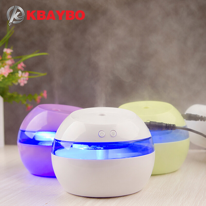 USB 5V Ultrasonic Air Aroma Humidifier Electric Aromatherapy Essential Oil Aroma Diffuser With Color LED Lights