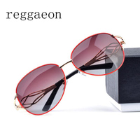 Reggaeon Diamonds Legs Sunglasses Women Metal Frame Polarized Glasses Vintage Cable Eye Piece Colorful Stylish Sun